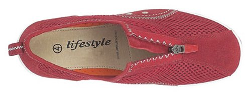 Ladies Zip/Tassello elastico tempo libero casual Red
