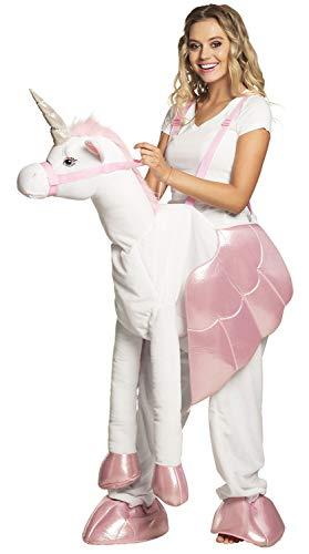 Boland 88092 Kostüm Auf einem Einhorn, Weiß/Rosa, One Size (Rosa Einhorn Kostüm)