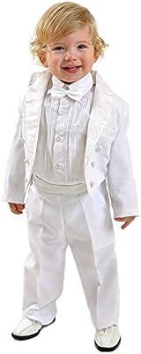 5piezas niños Traje Smoking Traje de frac Baby taufanzug Traje de comunión Confirmación Traje Traje Blanco Talla 80hasta 140