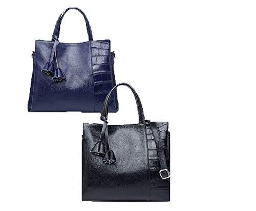 PACK Atmosphere Borse In Pelle Borse A Tracolla Di Spalla Europa E Gli Stati Uniti Ladies Soft Leather,C:SapphireBlue C:SapphireBlue