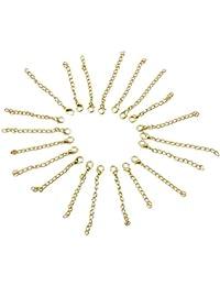20 pcs Chaîne d' Extension Rallonge Rajout pour Collier Accessoire Allongement 11mm