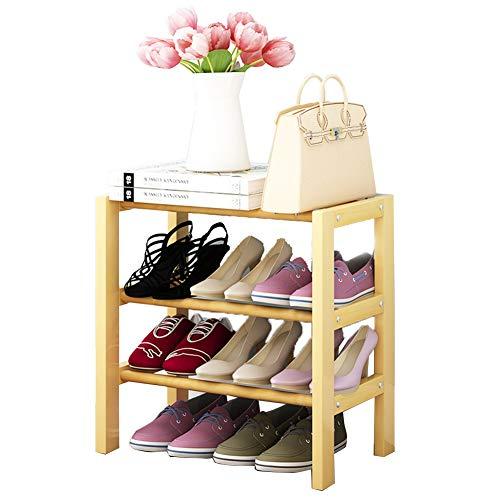Armoire de Chaussure Multi-Fonctionnelle Peut être superposée en Bois Massif Rack de Chaussures dortoir économie Rack de ménage,50cm