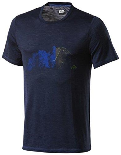 McKINLEY Herren Halawa T-Shirt, Navy Dark, L (Wolle T-shirt Kurzarm)