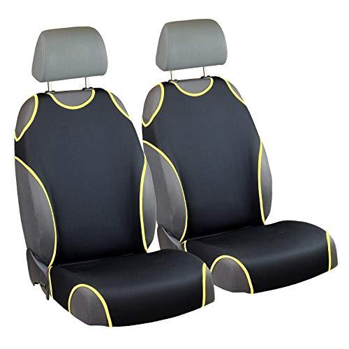 Zakschneider Matrix Sitzbezüge - Vorne Sitzbezüge - für Fahrer und Beifahrer - Farbe Premium Schwarz Gelb - Matrix Sitzbezüge Auto Toyota