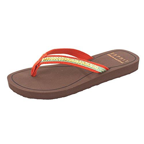 ESPRIT DIVA SEQUINS 046EK1W063635 adulte (homme ou femme) Chaussures de sport Rouge