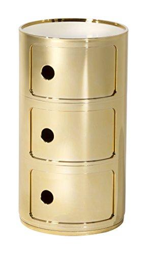 Kartell, Componibile, Contenitore, Oro, 32 x 32 x 58 cm
