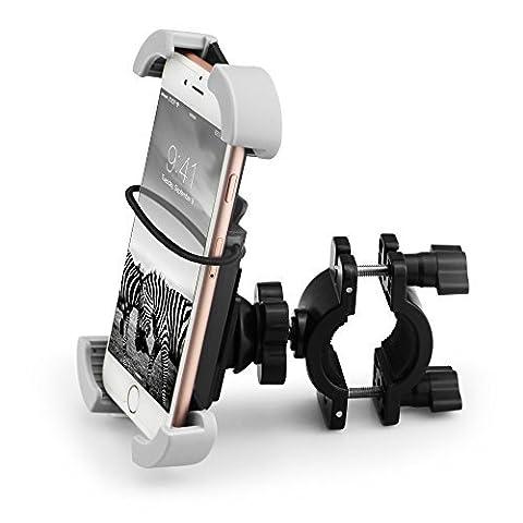 Quntis® Support Téléphone pour Vélo Support Vélo Support Guidon pour Moto Vélo Plus Stable et Sûr avec Rotation à 360 ° pour iPhone 7 6 6 Plus 6S 6S Plus Samsung Galaxy S5 S6 S6 Edge S7 Note Plus 5 Nexus Motorola Nokia Smartphones et GPS pour Appareils