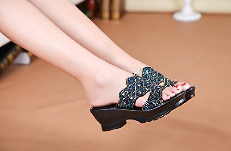 NGRDX&G Sandalias Zapatos De Hadas Retro Zapatos Casuales, Verde, 37 37 The green