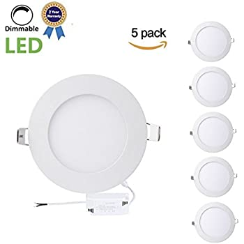 B right led panel light 9w 5 inch dimmable ultra thin round trylight 9w 5 inch dimmable ultra thin round led recessed panel light60w incandescent equivalent4000k natural whiteled recessed ceiling panel flat panel aloadofball Gallery