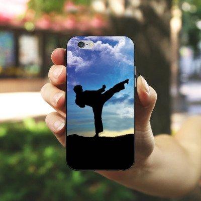 Apple iPhone 4 Housse Étui Silicone Coque Protection Karaté Sport de combat Entraînement Housse en silicone noir / blanc
