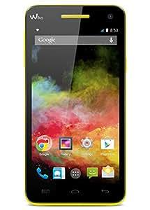 Wiko Rainbow Smartphone débloqué 4G (Ecran : 5 pouces - 8 Go - Simple SIM - Android 4.4 KitKat) Jaune
