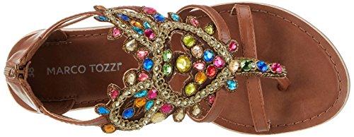 Marco Tozzi Damen 28150 Offene Sandalen mit Keilabsatz Mehrfarbig (Multicolour 990)