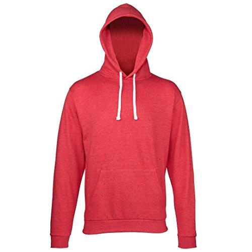 AWDis Hoods -  Felpa con cappuccio  - Uomo rosso ardesia