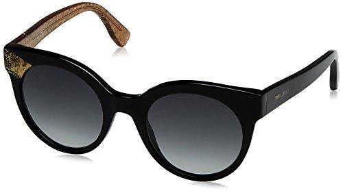 Jimmy Choo Damen Mirta/S 9O 1W7 Sonnenbrille, Schwarz (Bk Bei Glitter/Dark Grey Sf), 49