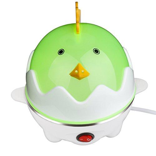 Eierkocher - Ourmall Multifunktions-Eierkocher, Eierkocher Wilderer, Gebäck Dampfgarer 7 Eier Kapazität mit CE, Rohs Bescheinigung (Hellgrün)