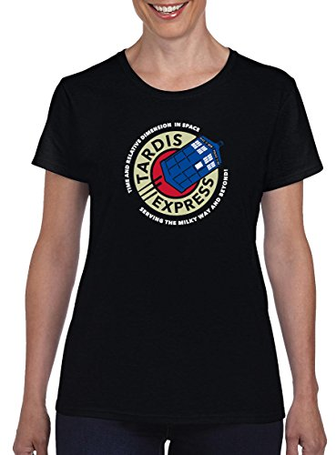 TSP Tardis Express Damen T-Shirt XXL Schwarz
