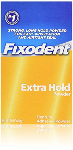 Fixodent Denture Adhesive Powder, Extra Hold - 1.6 Oz (Kleber)