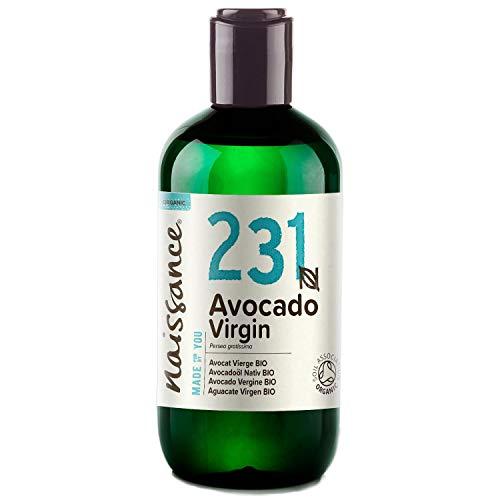 Naissance Avocadoöl, nativ 250ml BIO zertifiziert 100{32dba24a7650dd87fb8d3c0d9baae4c76a2c4de520e8a66c8dde91f94f4d37a8} rein