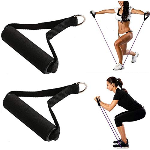 EBTOOLS 2 Stück Fitness Seil Befestigung Bar Gym Widerstand Band Schaumstoff Gripper Dip Station Gym Fitness Widerstand Band Griffe mit ABS Kern für Training - Fitness-bar Maximale