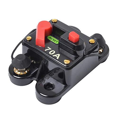 KESOTO Inline-Leistungsschalter 70 Ampere Manuell Reset Taste Für Auto LKW Marine Boot Audio/Video System überlasten Schutz Marine 70 Amp
