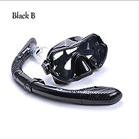 Traje De Snorkel Tubo De RespiracióN Seco Completo Gafas Antiniebla , black , B
