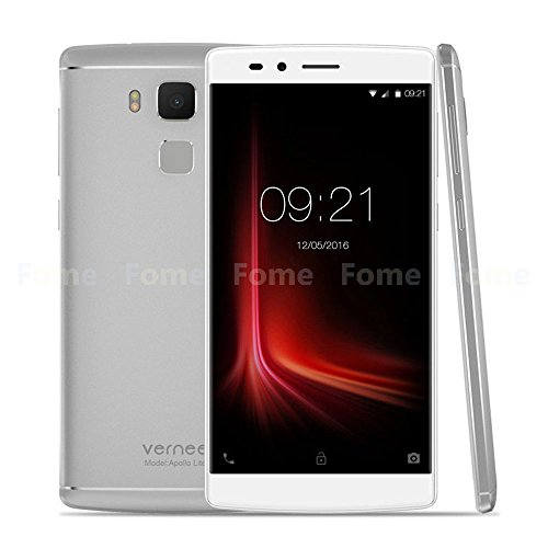 Vernee Apollo Lite 4G LTE - Smartphone Android 6.0 ( MTK6797 Helio X20 Deca Core 5.5 '' 2.5D FHD Schermo, 4GB +32GB, 5MP+16MP Camara, 4K Vídeo, Fingerprint ID, Pump Express 3.0 Fast Charge, OTG )
