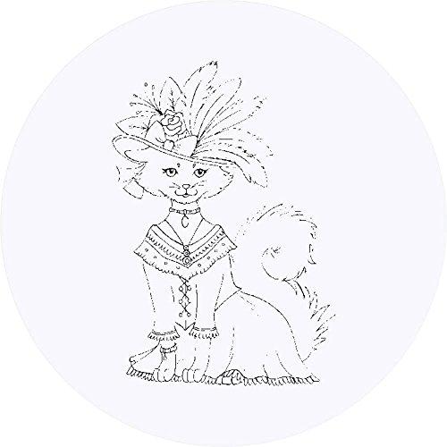 den 'Katze im Kostüm & Hut' Aufklebern / Stickers (SK00002383) (Katze Und Der Hut Kostümen)