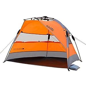 Qeedo Quick Bay Strandmuschel mit UV-Schutz und 360° Panorama View - orange