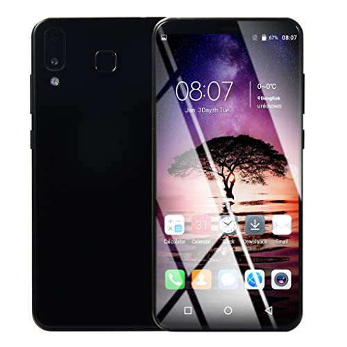 Huhu833 Smart Handys, 6.1'' Ultradünne Smartphone Android 6.0 Quad-Core 1 GB + 8 GB GSM WiFi Dual SIM 8.0MP Smart Mobiltelefon intelligentes Mobiltelefon (Schwarz) (Cdma Android-handys)
