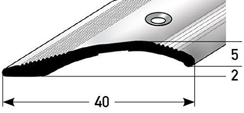 Helle Fliesen (Höhen-Ausgleichsprofil 40mm x 135cm - bronze-hell ✓ 2mm - 16mm ✓ Gebohrt ✓ Stufenloser Höhenausgleich | Aluminium Anpassungsprofil für Laminat, Teppich, Parkett & Fliesen)