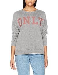 Only Women's Onlbette Logo LS Swt Sweatshirt