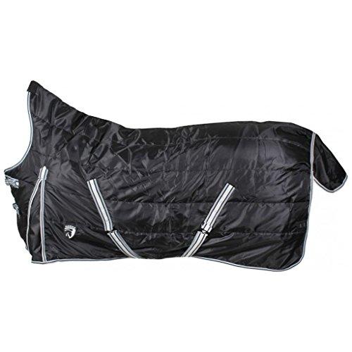 HORKA 450D Hälfte Hals 300g schwere Gummizug stabilem Teppich Equestrian Bezug, schwarz -