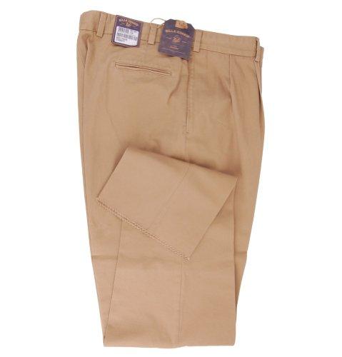 Da uomo Bill khakis Chino, con pieghe anteriori cotone twill kaki Khaki XXL