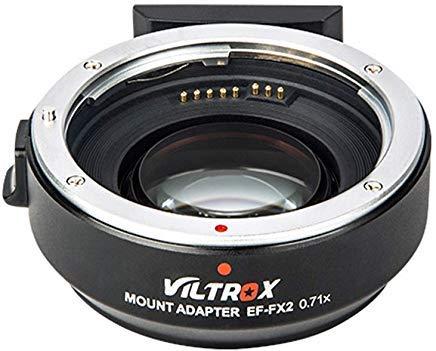Viltrox EF-FX2 Elektronischer Autofokus Objektiv-Adapter-Konverter 0,71x Speed Booster für Canon EF-Objektiv auf Fuji X-Mount Mirrorless-Kameras X-T2 X-T20 X-T10 X-T100 X-PRO2 X-E3 X-A20 X-A5
