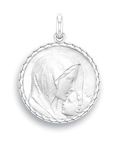 Marie-y-el-beso--Medalla-religiosa--oro-blanco-9-quilates--Dimetro-17-mm--wwwdiamants-perlescom