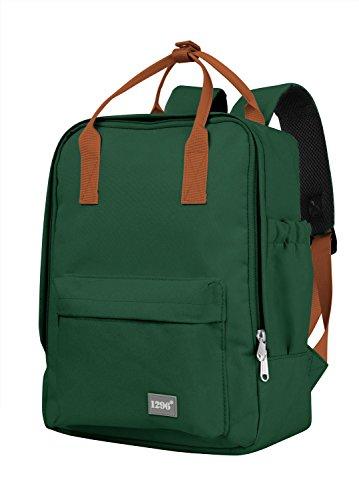 blnbag U3 - Kleiner Rucksack 10 Liter mit Fronttasche und Tablet-Fach, Daypack, leichter Tagesrucksack, Backpacker, unisex, Waldgrün
