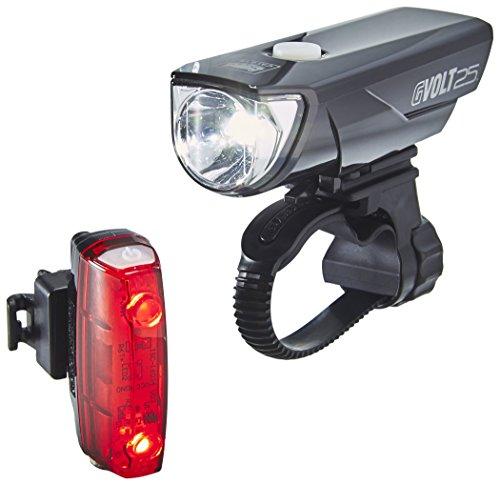 Cateye GVolt 25 Rapid Micro Beleuchtungsset, schwarz/Ro… | 04990173031016