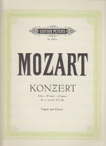 EDITION PETERS MOZART W. A - KONZERT B DUR N°1 OP.96 KV 191 Klassische Noten Fagott