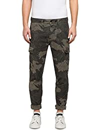 Replay Men's Men's Camouflage Cargo Trousers Cotton