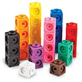 Learning Resources- Cubos Mathlink (Set de 100), Color (LER4285)
