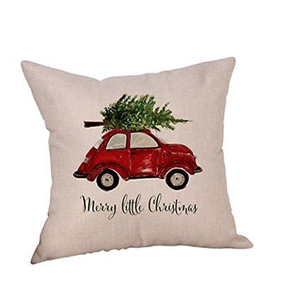 Pillowcase, Familizo Christmas Linen Cushion Cover Throw Sofa Bed Home Decor 45 x 45cm produced by Familizo - best deals