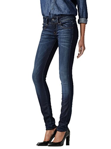 G-STAR Damen Lynn Skinny Jeans Blau (medium aged 071)