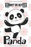 Carnet de notes Panda: Panda Cahier et journal A5 ligné original de 100 pages 6x9, Une belle idée de cadeau pour les amoureux des animaux