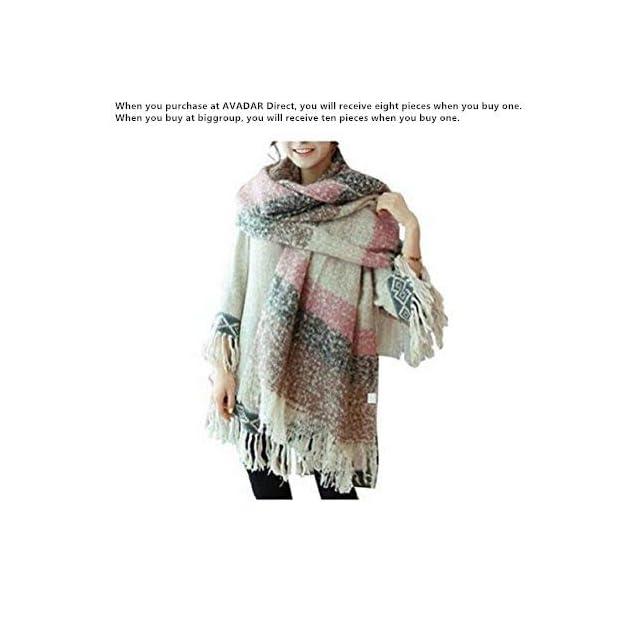 Grand châle Weibestshop confortable pour femme - Plaid, pashmina, écharpe -  Motif à carreaux ... 71d375f6d6b2