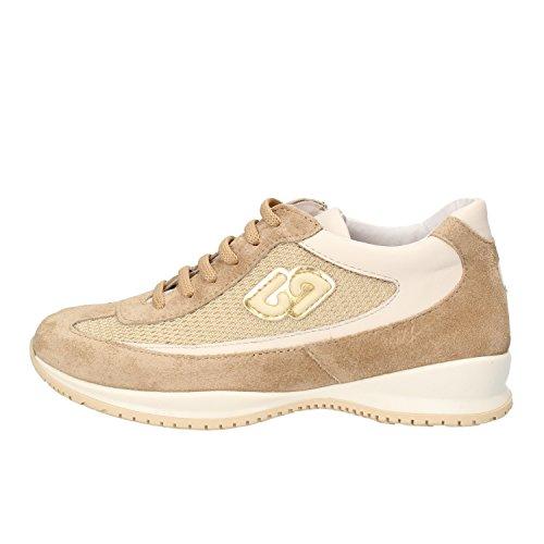 BALDUCCI sneakers bambina beige camoscio pelle tessuto AF701 (31 EU)