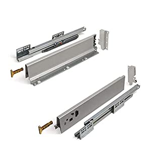 SO-TECH® Schubkastensystem grau Höhe: 84 mm Tiefe: 450 mm Schublade Schubkasten