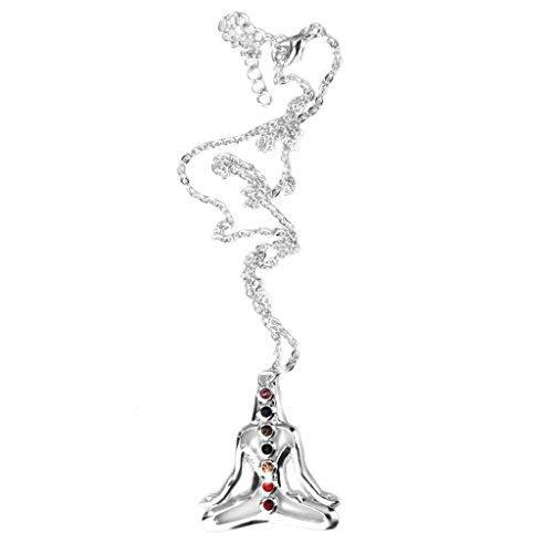 MagiDeal Collar Cadena Colgante Forma Buda Yoga Cristal regalo para Mujer