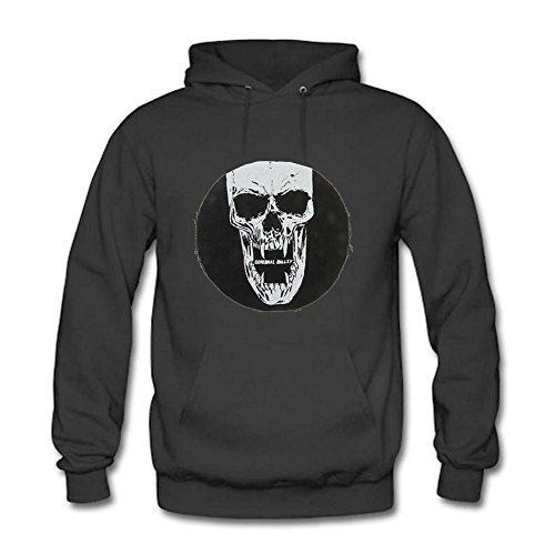 WEIYI BO Women Casual Creative Skull Mask Graphic Hooded Pullover Sweatshirt Tops A