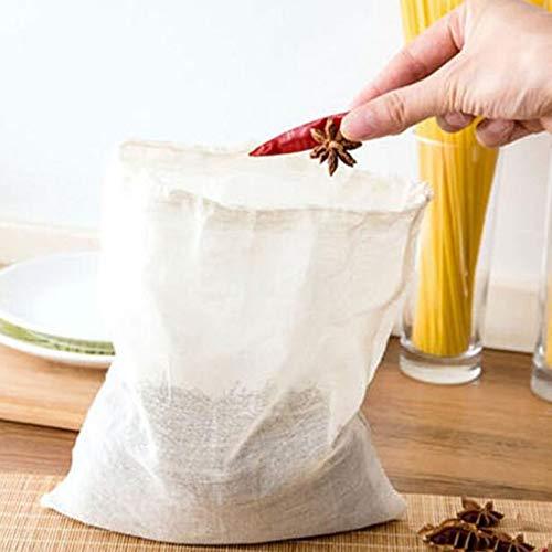 CreameBrulee 1Pcs Papier Leer Draw String Teabags Kräutertee-Beutel-Beutel Loser Tee-Beutel-Beutel