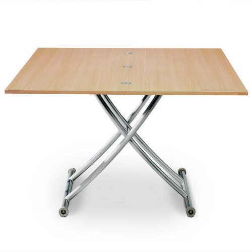 Menzzo Table Basse relevable Carrera Chène Clair,